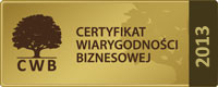 marseplast certifikat wiarygodności biznesu 2013